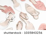 flatlay  top view many pairs of ... | Shutterstock . vector #1035843256