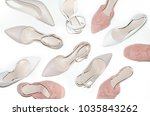 flatlay  top view many pairs of ... | Shutterstock . vector #1035843262