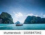 scenic landscape seascape with...   Shutterstock . vector #1035847342