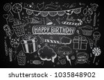 happy birthday background.... | Shutterstock .eps vector #1035848902