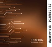 technology vector backgrounds | Shutterstock .eps vector #1035851752