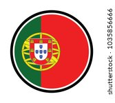 the portuguese flag in the form ... | Shutterstock .eps vector #1035856666