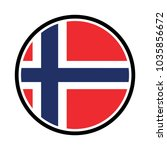 norway flag  official colors... | Shutterstock .eps vector #1035856672