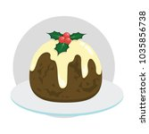 delicious figgy christmas...   Shutterstock .eps vector #1035856738