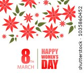 happy women's day typography... | Shutterstock .eps vector #1035860452