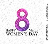 women's day typographic card... | Shutterstock .eps vector #1035860512