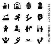 solid vector icon set  ... | Shutterstock .eps vector #1035872158