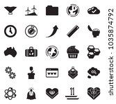 solid black vector icon set  ... | Shutterstock .eps vector #1035874792
