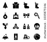 solid vector icon set  ... | Shutterstock .eps vector #1035875146