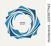 water wave logo abstract design.... | Shutterstock .eps vector #1035877462