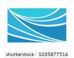 water wave logo abstract design.... | Shutterstock .eps vector #1035877516