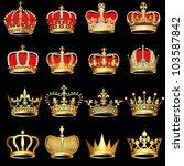 illustration set gold  crowns... | Shutterstock .eps vector #103587842