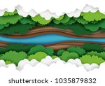top view of green forest canopy ... | Shutterstock .eps vector #1035879832