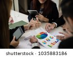 a group of business men and... | Shutterstock . vector #1035883186