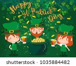 happy saint patrick's day... | Shutterstock .eps vector #1035884482