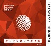 earth logo   halftone sphere   Shutterstock .eps vector #1035891535