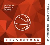 basketball ball line icon | Shutterstock .eps vector #1035894682