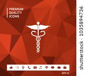 caduceus medical symbol | Shutterstock .eps vector #1035894736