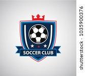 soccer football badge logo... | Shutterstock .eps vector #1035900376