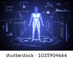 abstract technology ui... | Shutterstock .eps vector #1035904666