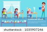 elementary school  poster of... | Shutterstock . vector #1035907246