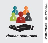 human resources management... | Shutterstock .eps vector #1035908068