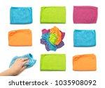 set of microfiber cleaning... | Shutterstock . vector #1035908092
