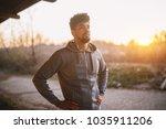 portrait of focused motivated... | Shutterstock . vector #1035911206