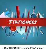 vector illustration of school... | Shutterstock .eps vector #1035914392