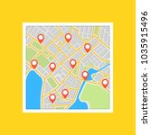 city map with navigation.... | Shutterstock .eps vector #1035915496