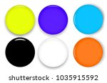 set of multicolor blank round...