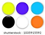 set of multicolor blank round...   Shutterstock . vector #1035915592