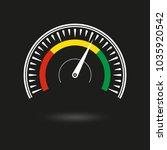 speedometer icon. gauge and rpm ... | Shutterstock .eps vector #1035920542