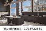 modern kitchen in classic villa ... | Shutterstock . vector #1035922552