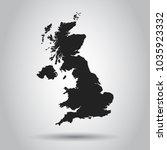 united kingdom vector map....   Shutterstock .eps vector #1035923332