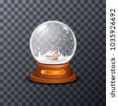 picture of glass snowball with... | Shutterstock .eps vector #1035926692