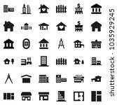 flat vector icon set  ... | Shutterstock .eps vector #1035929245