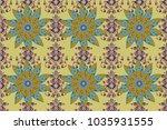 trendy seamless floral pattern... | Shutterstock . vector #1035931555