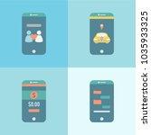 illustration of digital devices | Shutterstock . vector #1035933325