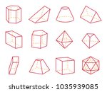 cube and cone with flat top ... | Shutterstock .eps vector #1035939085