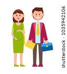 couple of happy newlyweds ...   Shutterstock .eps vector #1035942106