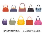 set of women bags stylish... | Shutterstock .eps vector #1035943186