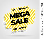 sale banner template design ... | Shutterstock .eps vector #1035945718