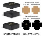 box packaging die cut template... | Shutterstock .eps vector #1035950398