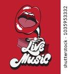 live music. vector handwritten... | Shutterstock .eps vector #1035953332