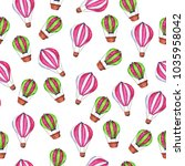 seamless pattern with pink and... | Shutterstock . vector #1035958042