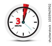 3 minutes icon. clock face with ... | Shutterstock .eps vector #1035965902