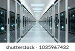 server room center exchanging... | Shutterstock . vector #1035967432