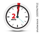 two minutes clock symbol.... | Shutterstock .eps vector #1035967912