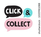 click and collect. online... | Shutterstock .eps vector #1035981088